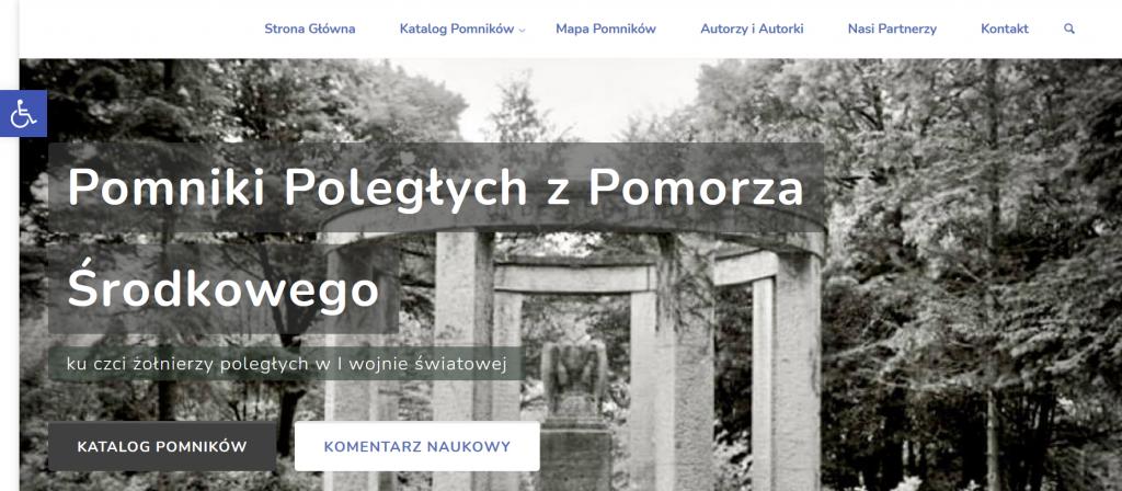 Katalog pomników ku czci poległych i zaginionych w I wojnie światowej na Pomorzu Środkowym