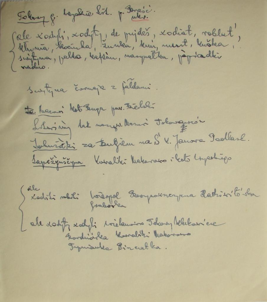 Notatki Zygmunta Korybutiaka z andotacjami Józefa Obrębskiego.